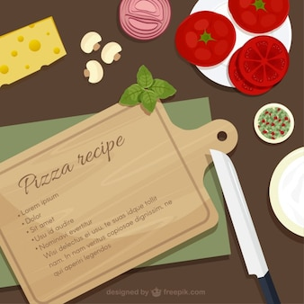 Ingredientes de receta de pizza