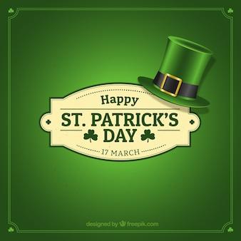 Insignia con sombrero del día de ST. Patrick