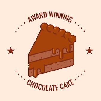 Insignia de pastel de chocolate