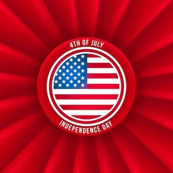Insignia del dia de la independencia americana