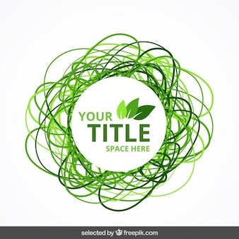Insignia eco verde garbateada