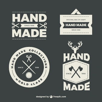 Insignias acerca de trabajos hechos a mano