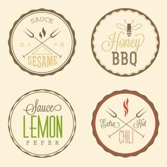 Insignias circulares de comida