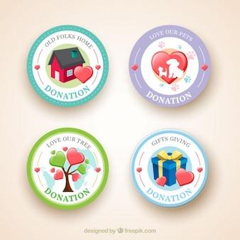 Insignias circulares de organización benéfica