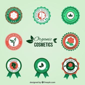 Insignias cosméticos orgánicos