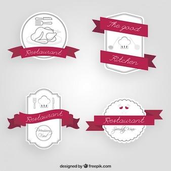 Insignias de bocetos de restaurante