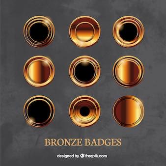 Insignias de bronce