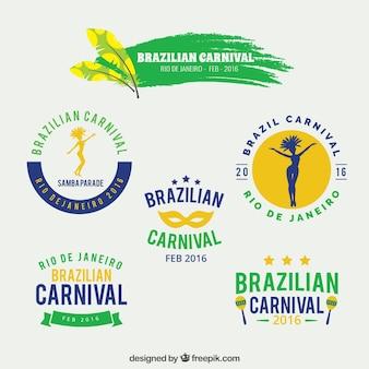 Insignias de carnaval brasileño