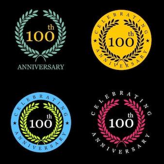 Insignias de corona de laurel para el centenario