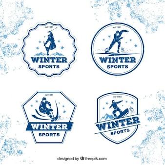 Insignias de deportes de invierno