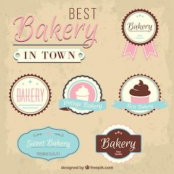 Insignias de la mejor panadería en la ciudad