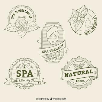 Insignias de spa esbozadas