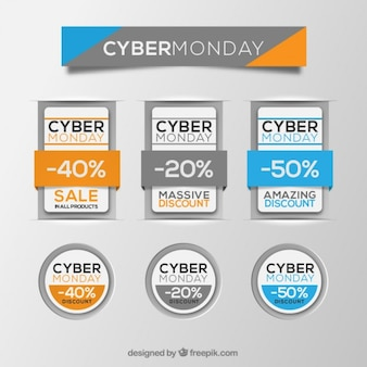 Insignias del cyber lunes