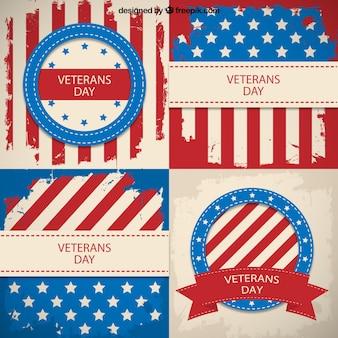 Insignias del día de los veteranos