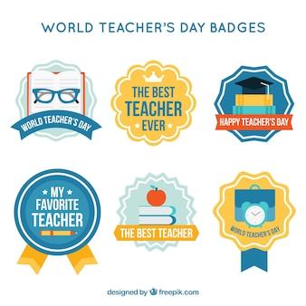 Insignias del día del profesorado