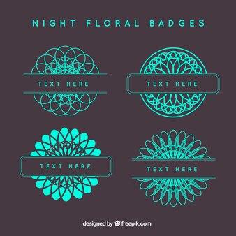 Insignias florales de noche
