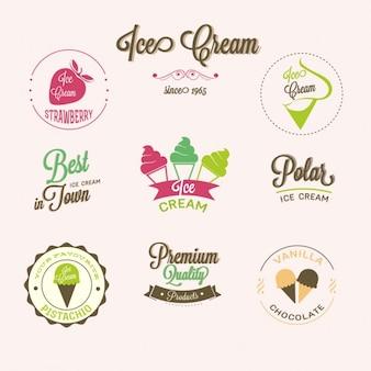 Insignias para heladerías