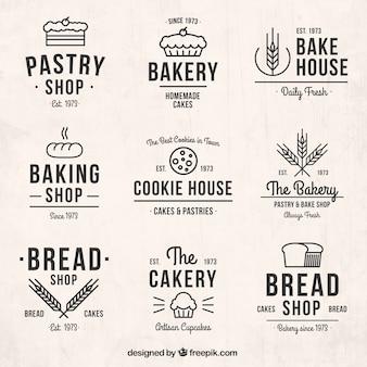 paquete de logos de panadería dibujados a mano 7296 80 hace 1 años