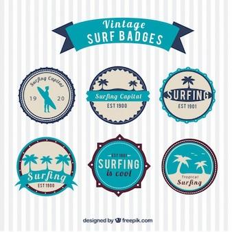 Insignias vintage de surf