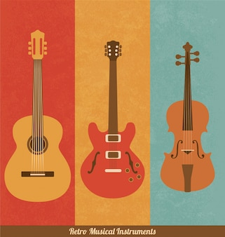 Instrumentos musicales retro