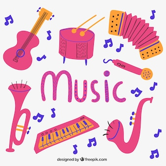 Instrumentos musicales rosa
