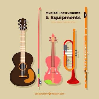Instrumentos musicales y equipos