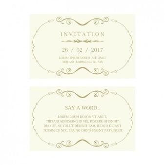 Invitación de boda con algunos ornamentos