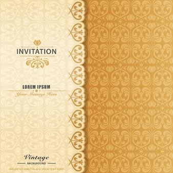 Invitación elegante ornamental