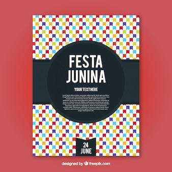 Invitación abstracta colorida de fiesta junina