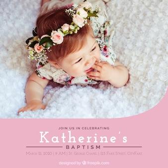 Invitación de bautizo