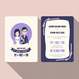 Invitación de boda, color violeta