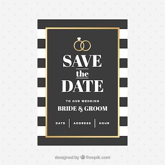 Invitación de boda con estilo elegante