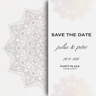 Invitación de boda con mandala