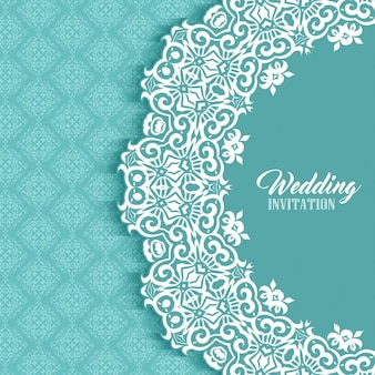 Invitación de boda con un lindo marco ornamental