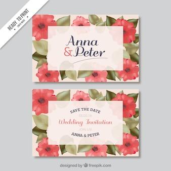 Invitación de boda de amapola