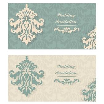 Invitación de boda ornamental