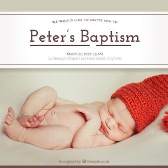 Invitación de celebración de bautismo