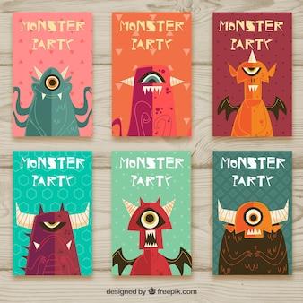 Invitación de fiesta de monstruos
