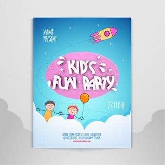 Invitación de fiesta de niños