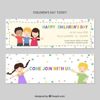 Invitación de fiesta del día de los niños