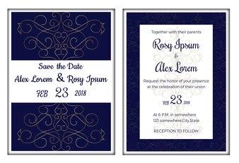 Invitación de la boda, ahorre la fecha