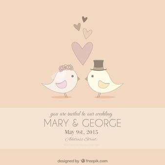 Invitación de la boda linda
