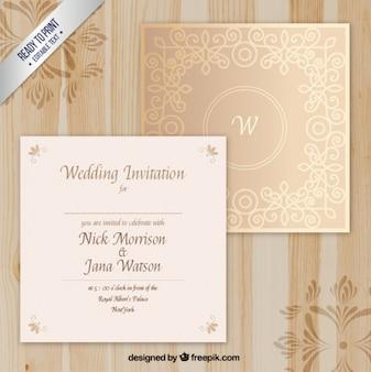 Invitación elegante de boda