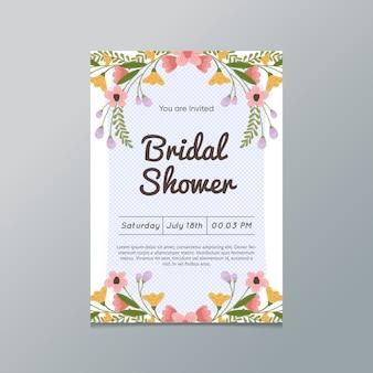 Invitación nupcial floral de la ducha
