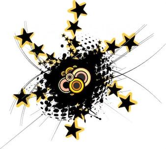 Irradia la estrella del túnel y el centro de grunge
