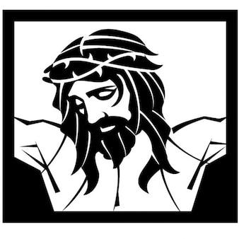Jesucristo crucificado ilustración vectorial