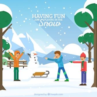 Jóvenes disfrutando de la nieve