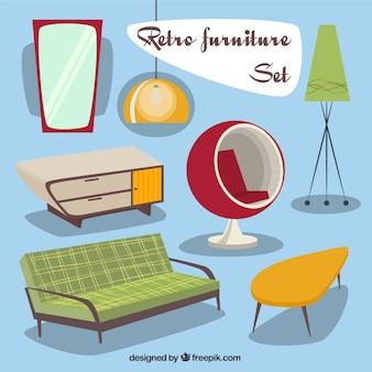 Juego de muebles retro