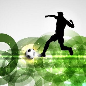 Jugador de fútbol en un fondo abstracto
