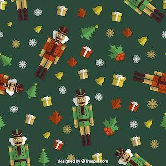 Juguetes de Navidad de fondo